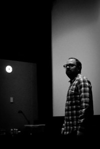 Cal Brunker (Director) at the last animation dailies.
