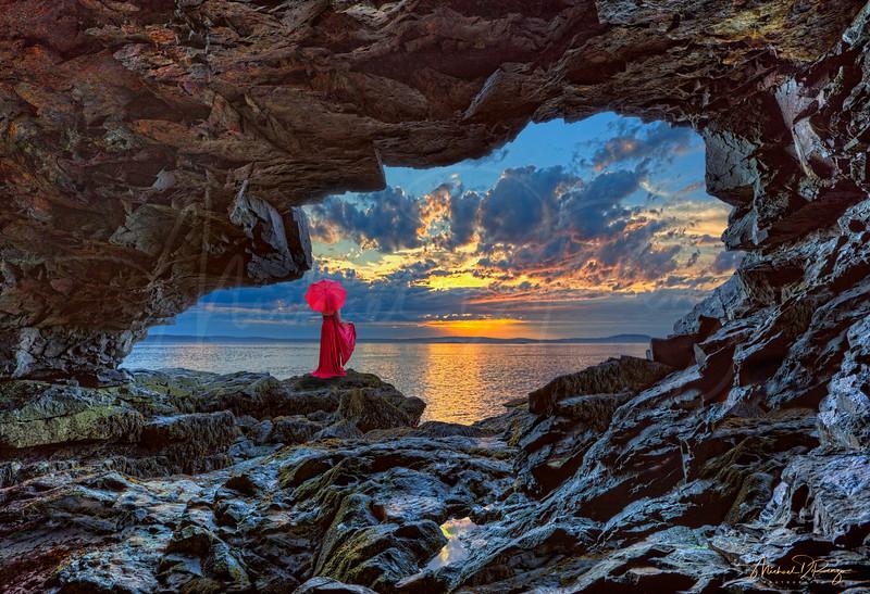 Red Dress at Dawn 0707 w65