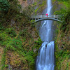 Multnomah Falls and Red Umbrella 9368 w51