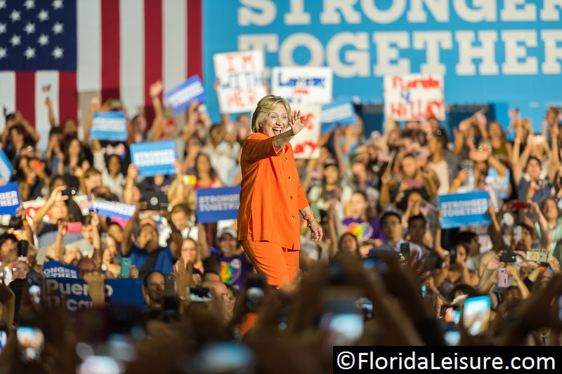 Hillary Clinton, Kissimmee, Florida - 8th August 2016 (Photographer: Nigel G Worrall)