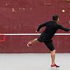 Alex Jovel of Lowell hits tennis balls against the wall at Shedd Park.  (SUN/Julia Malakie)