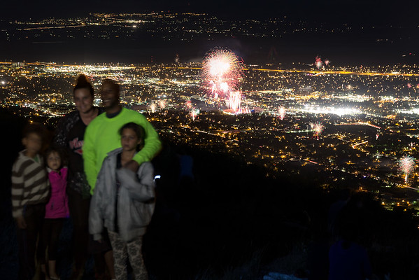 Family infront of Provo Fireworks
