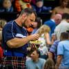 Gregor Edmunds enjoys his chips