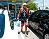 Hulk Hogan buying ice at gas station we were at in Florida.