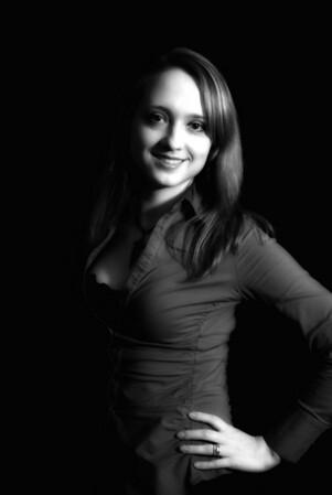 My co-worker, Marina Ikonnikova Pierson.  Great sport in helping me understand low-key lighting.