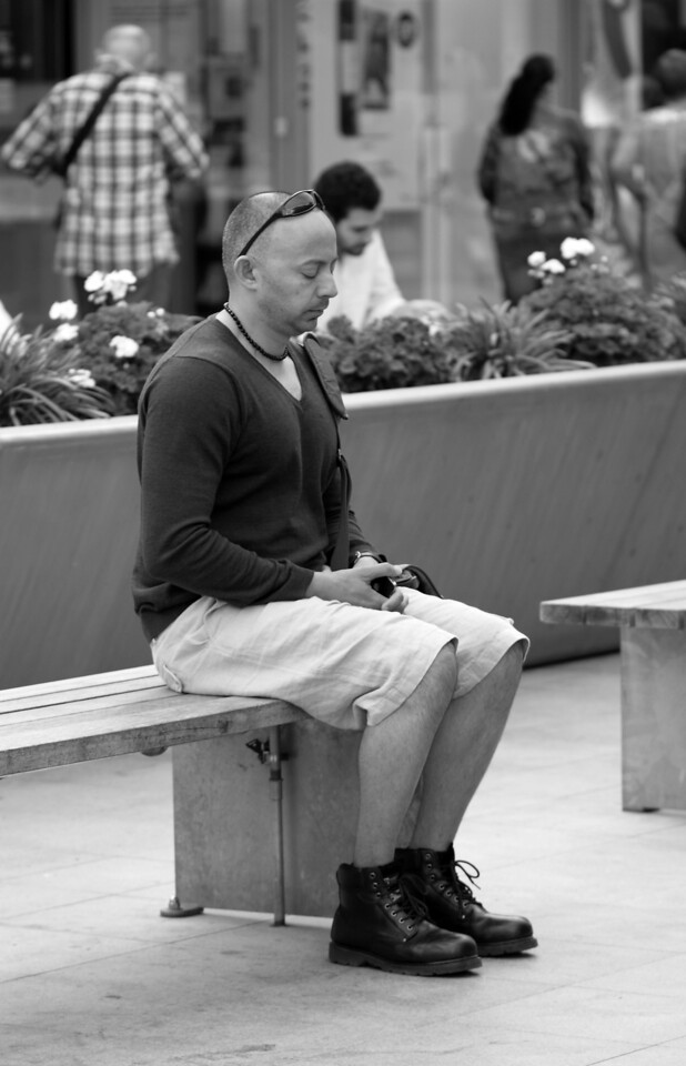 Meditating Man, London , UK