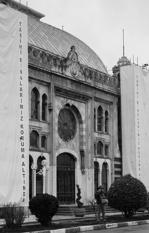 Tugrul Berge in front of Sirkeci Station, Istanbul