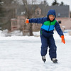 James Williams, 10, of Townsend ice skates on the VFW Pond on a chilly Tuesday afternoon in Townsend.<br /> SENTINEL & ENTERPRISE / BRETT CRAWFORD