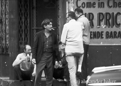 I ain't no bum. Bowery Life 1970 from slide scan