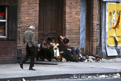 On the way somewhere. Bowery Life 1970 from slide scan.