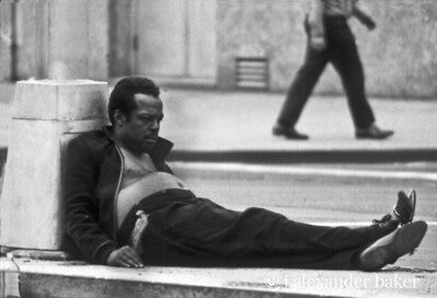 Need a little rest, here. Bowery Life 1970 from slide scan