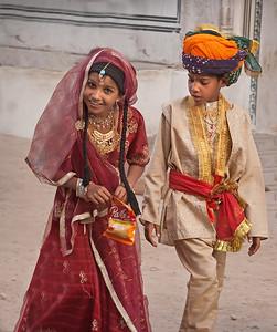 Playing maharaja and maharani in India