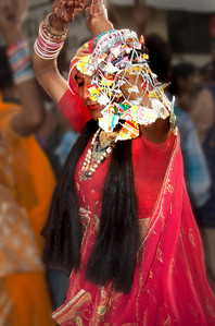 a sect of Hinduism where men are castrated and work as female entertainers