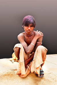 Poor young man on Street