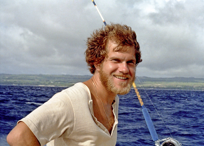 Ian on a fishing boat of the coast of Barbados.  Taken shortly before my first marriage.