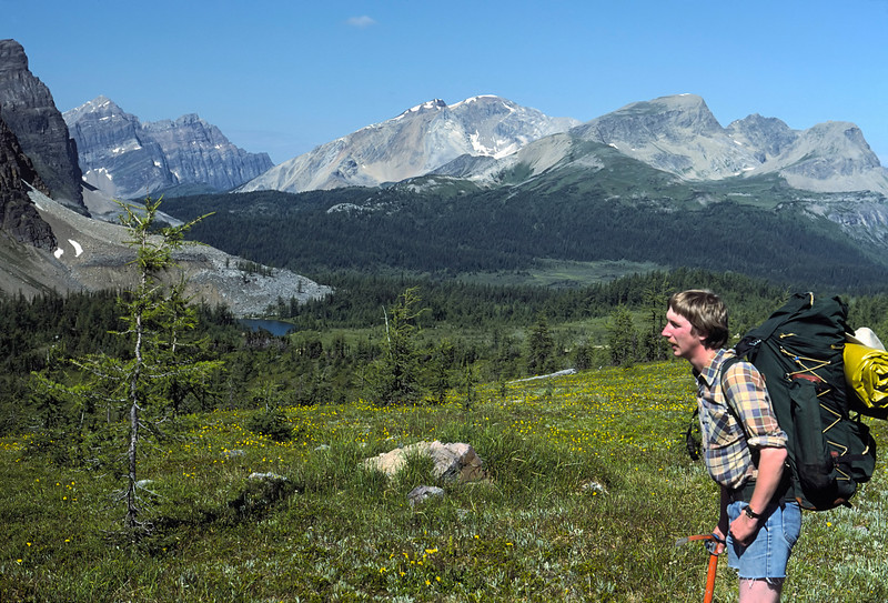 Bob in the Canadian Rockies.  This shot was taken on a three day hike to Mount Assiniboine.