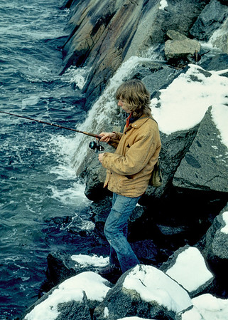 Bob Blaxley fishing on the coast of British Columbia in 1975. Human beings divide into two camps: those that fish seriously and the rest of us. Bob was (is) very much a member of the first camp. The world would be a calmer and more peaceful place if more people went fishing. Fishing calms the mind, teaches patience and nurtures a love for wild places.