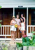 Ruth, Miriam, Sharon and Aileen on the porch of Conlo house in Barbados. We rented Conlo house from about the middle of 1978 to the summer of the following year.
