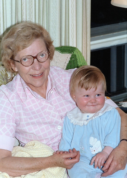Beryl with my daughter baby Helen. This picture was shot in Beryl's Toronto house in the fall of 1987.  Beryl was one of Marion Dubin's best friends. They were together as college students and stayed in touch until Marion's death. Beryl lived well into her nineties. I, along with just about everyone else, really liked Beryl. She was a warm and friendly person that treated everyone as a dear old friend.