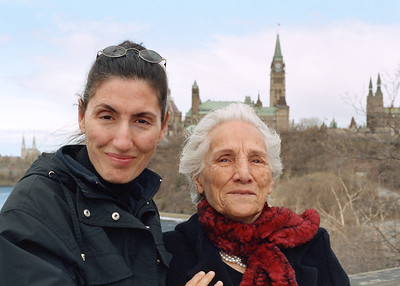 Mali with her mother Mahin behind the Supreme Court of Canada in Ottawa.  The view of parliament hill and the Ottawa River from behind the supreme court is one of the best in the city.