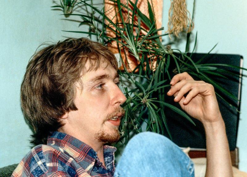 Bob Blaxley in Carl's Edmonton basement apartment.