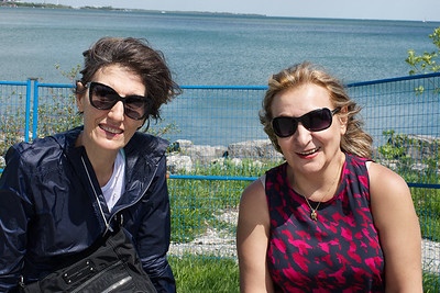 Mali with Ehsan's mother Pari on the Toronto waterfront.