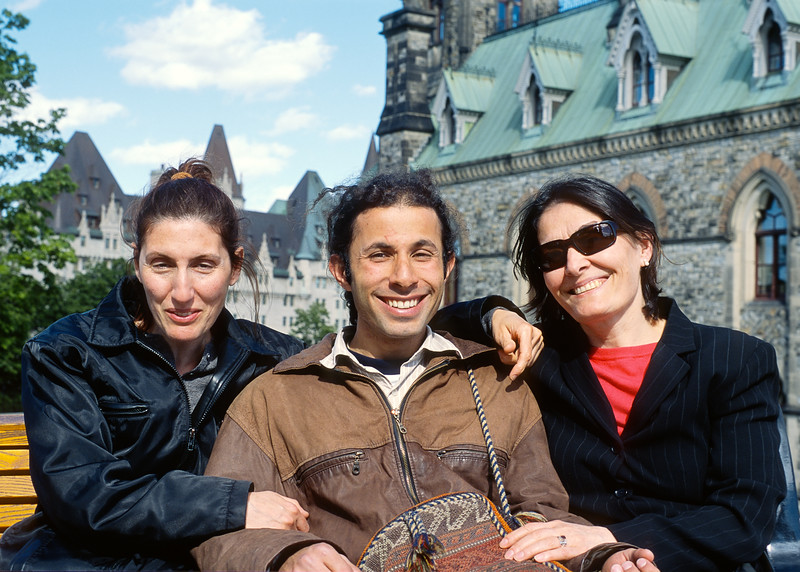 Mali, Combiz and Sedi in Ottawa 2004.