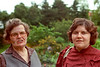"Marion and her daughter Miriam Dubin on the grounds of ""Stately Dubin Manor"" around 1989."