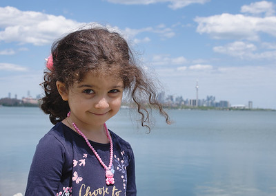 """Ghazal on the Toronto waterfront. Ghazal is a delightful intelligent opinionated child.  She's the first grandchild on both sides making her in her daddy's words """"a real princess."""""""