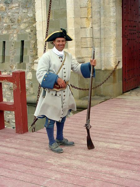 The Guard at Lunenberg Fortress, Nova Scotia