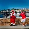 Santa Claus and the yachtsman.