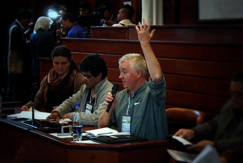"""Contributions about key aspects in peace processes were made from several different perspectives. Paul O`Connor from Northern Ireland, for example, spoke about the need to remember the past: """"We can´t get people back, but we can remember our past."""""""