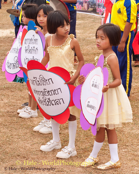 Young Girls Participating In Procession As Part of Opening Ceremonies