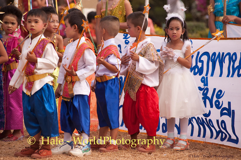 Young Students Participating In Procession As Part of Opening Ceremonies