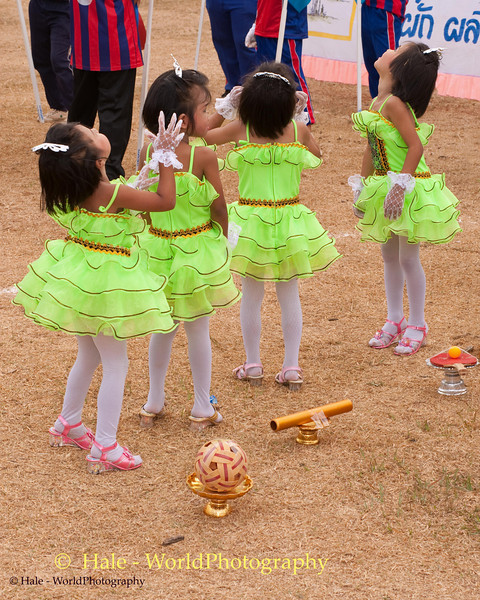 Tahsang Village Three and Four Year Old Girls Reacting to Opening Ceremony Fireworks