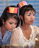 Lao Loum Go-Go Dancers Backstage During Song Poo Day Celebration