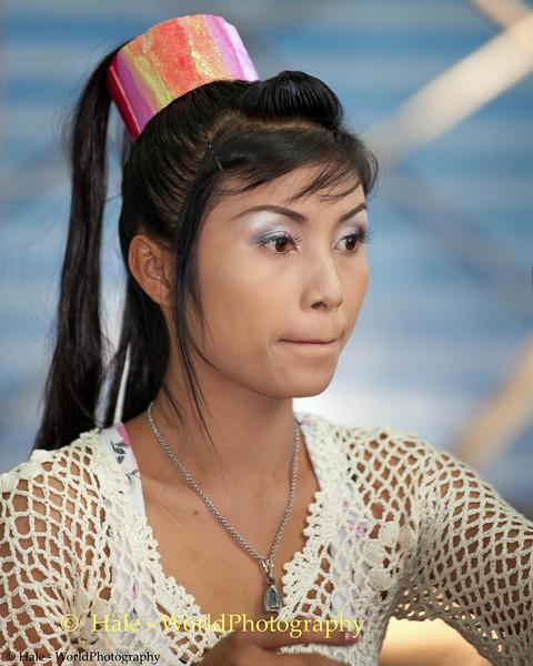 Lao Loum Go-Go Dancer Backstage During Song Poo Day Celebration