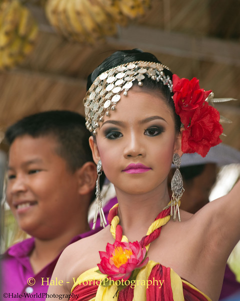 Elementary School Student Dancer During Candle Festival Morning Procession