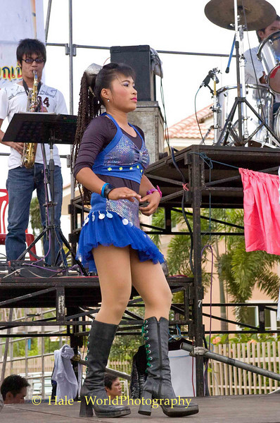 Isaan Dancer Performing At A House warming Party