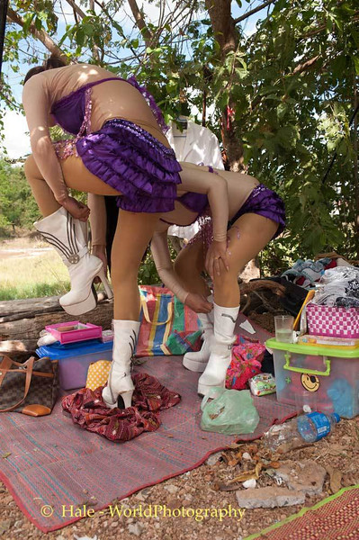 Backstage, Dancers Put On Their Dancing Boots
