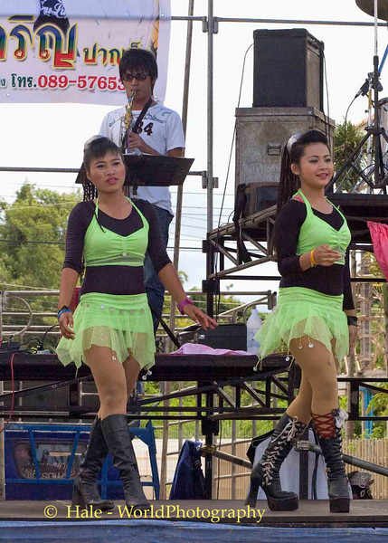 Go-Go Dancers On Stage Performing