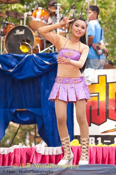 Lao Loum Go-Go Girl Dancing In Ban Non Makha, Thailand