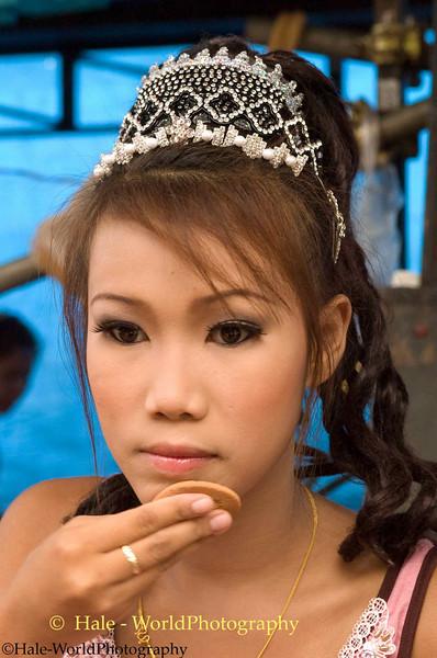 Go-Go Dancer Applying Her Makeup