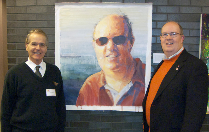 Artist and bowling friend Chris Brown, painted this great art of me. It also appeared in the Haverford School art show 3/11/11