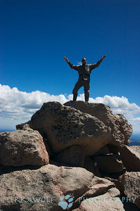 On top the highest point on Mt. Evans...