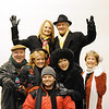 """Globe/T. Rob Brown<br /> The cast and director of the upcoming revue """"Let's Swing!"""" a tribute to the music of the 1940s, wear their winter clothes. Pictured are (top row, from left) Becky Seidl, Chet Fritz, (second row, from left) Jim Lile, Tamara Barnett, Rebecca Luebber, director and pianist Cecie Fritz and (front row) Kenny Timbrel."""