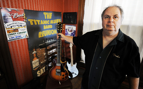 JMAG/T. Rob Brown<br /> Johnny Rose with his guitars.