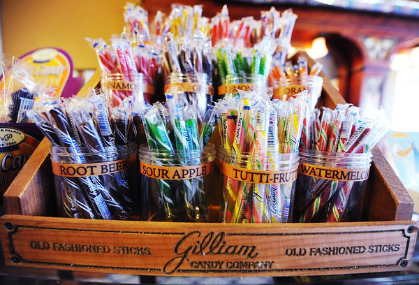 J-Mag/T. Rob Brown<br /> Candy sticks by Gilliam Candy Company for sale at Minerva Candy in Webb City.