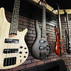 J-Mag/T. Rob Brown<br /> A series of bass guitars at the new Glory Days Music location, 420 North Range Line Road in Joplin.
