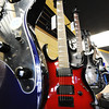 J-Mag/T. Rob Brown<br /> Some of the guitar selection at the new Glory Days Music location, 420 North Range Line Road in Joplin.